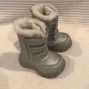 Children's Place Silver Snow Boots